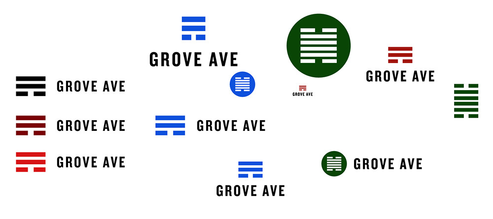 Grove Ave logo design